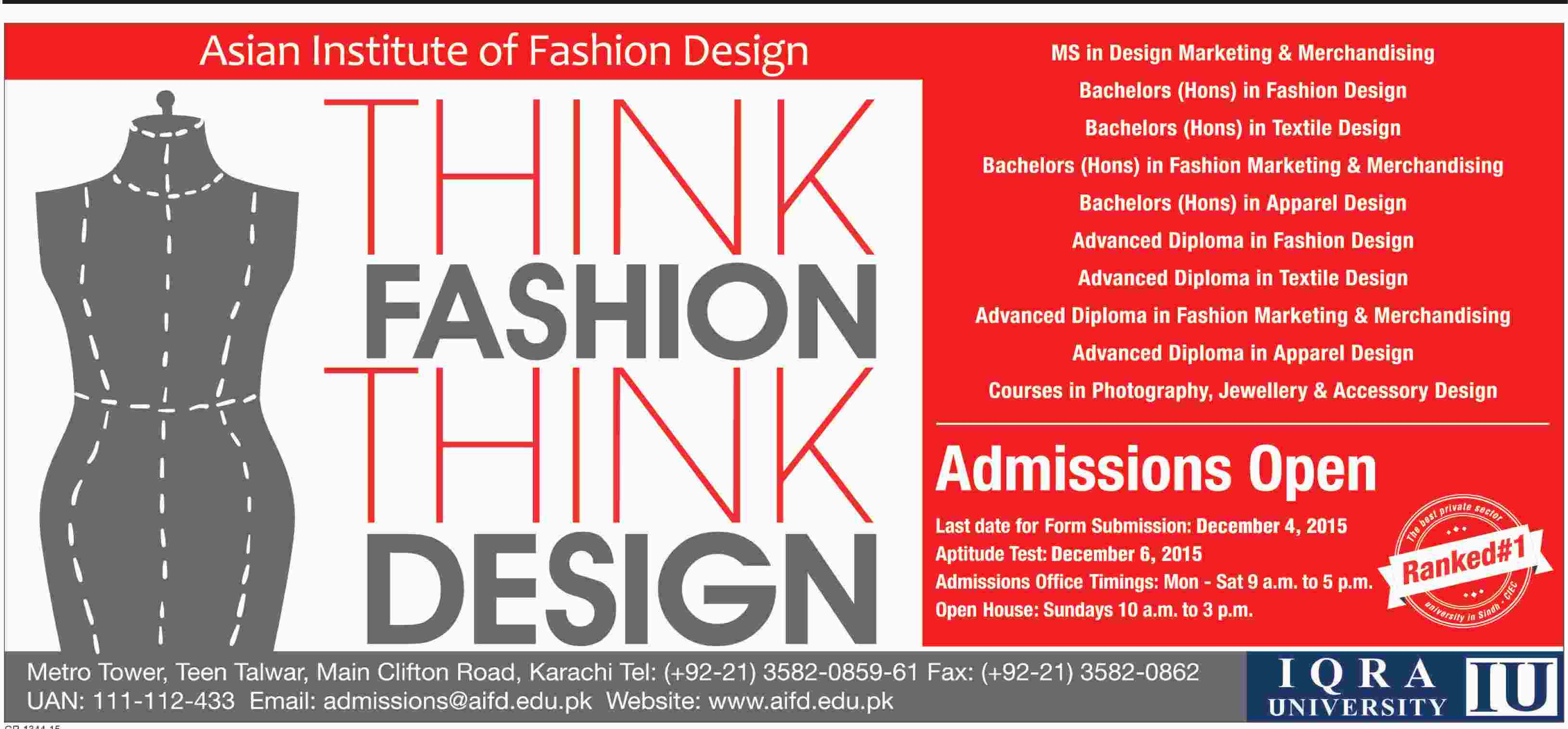 Iqra university fashion designing karachi 33