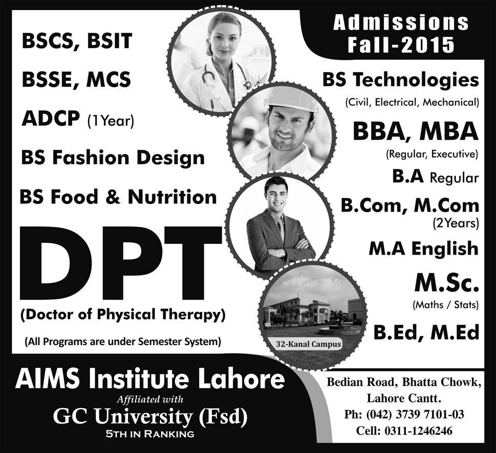 Bs Computer Science Bs Information Technology Admission In The Institute Of Management Sciences