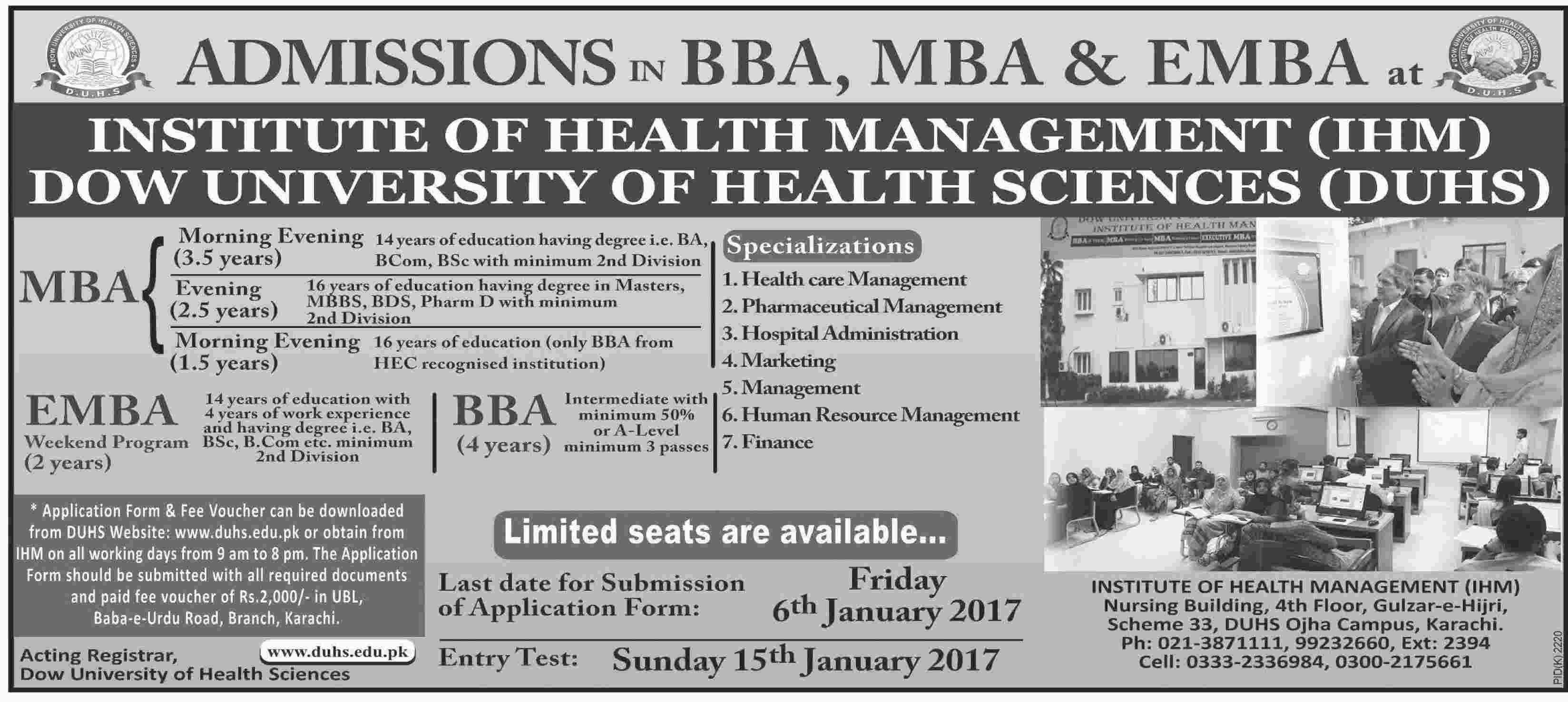 Admission in Insute of Health Management IHM Karachi 19 ... on hamdard university karachi, sindh medical college karachi, aga khan university karachi, fatima jinnah medical college karachi,