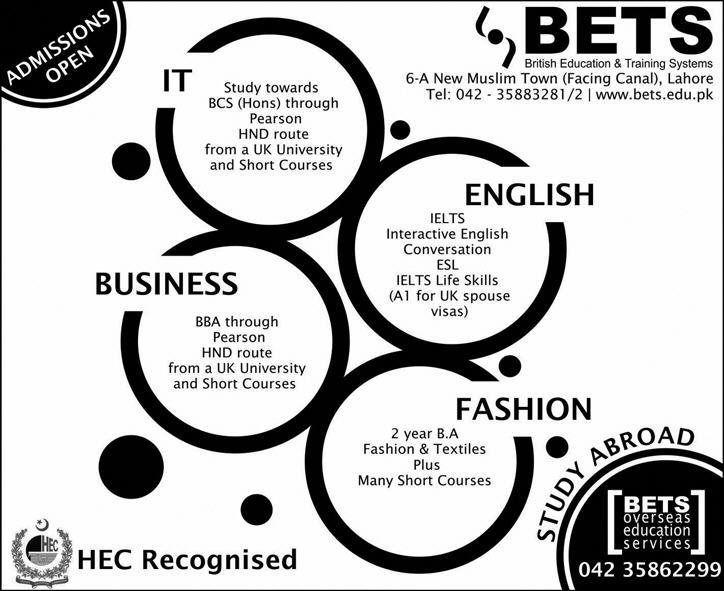 Admission in British Education and Training Systems BETS