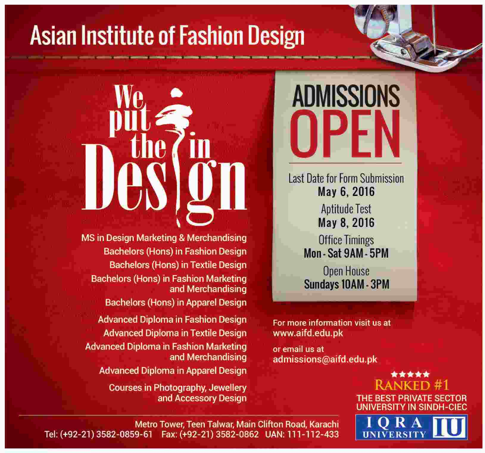 List Of Fashion Designing Institute In Lahore