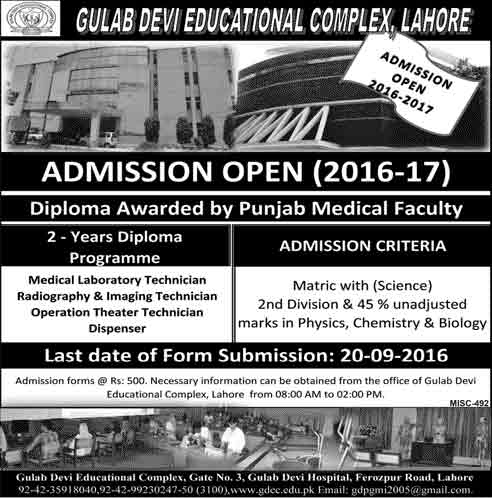 Admission Open in Riphah International University Lahore 22