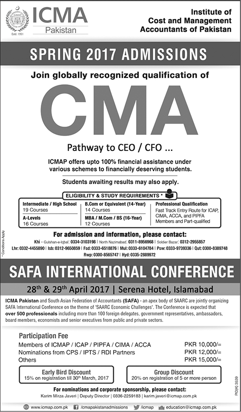 Admission In Institute Of Cost And Management Accounts Icma