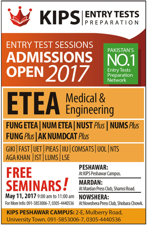 Admission Open in Kips College Peshawar 5 May 2017