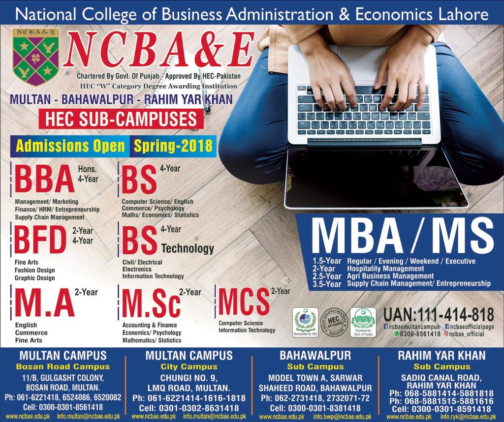 Admission in National College of Business Administration ...