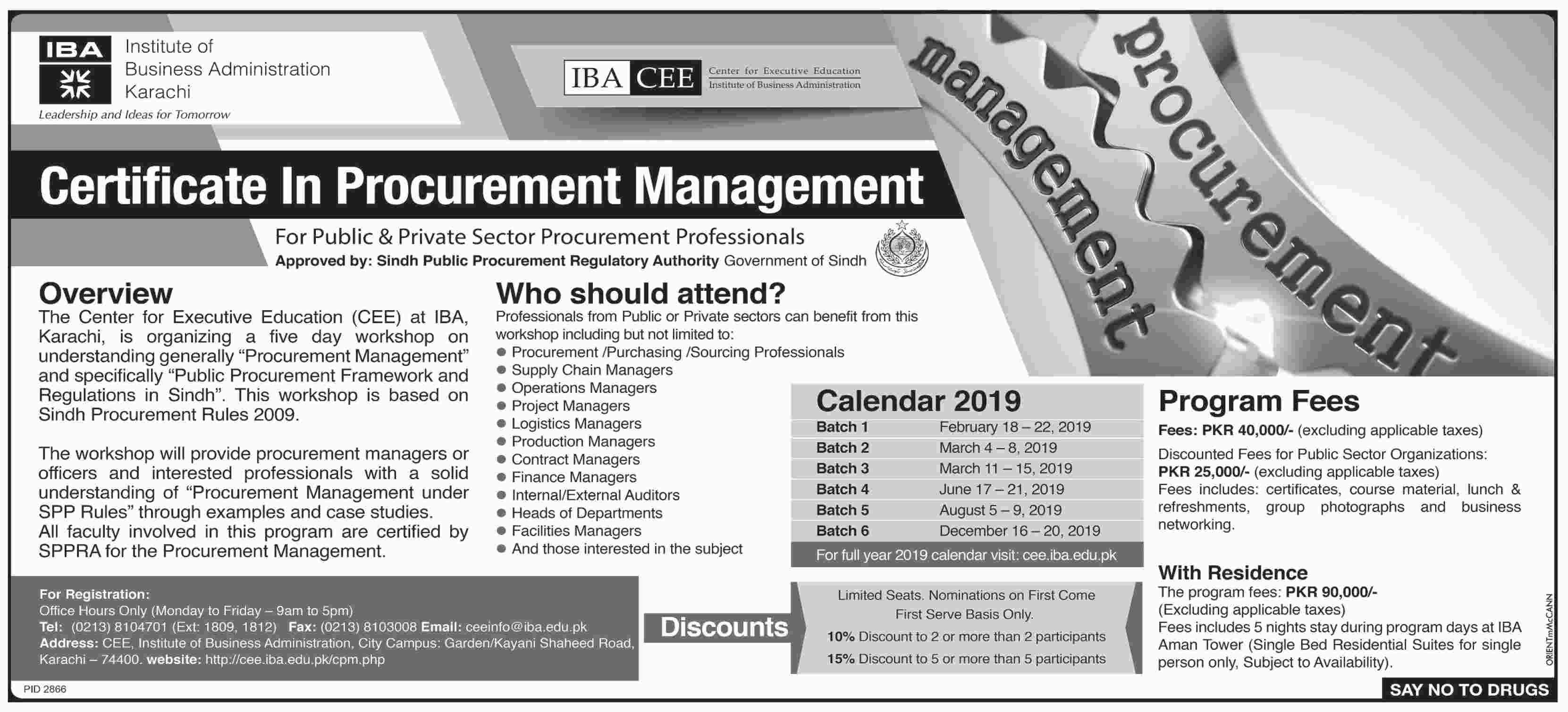 Admission in Institute of Business Administration Karachi ...